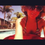 Laying in the sunshine, California