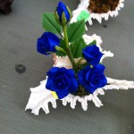 Miniature Clay Flowers - Blue
