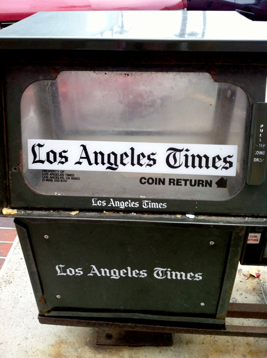Empty Newspaper Bin