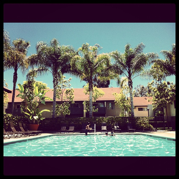 Poolside in Irvine!
