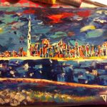 Dubai Abstract Painting