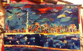 Dubai Abstract Painting