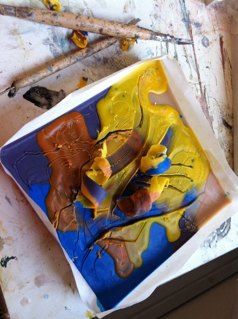 Encaustic Art Wax Painting
