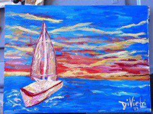 Sailboat Abstract