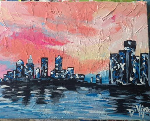 Abstract Art Detroit Cityscape Melissa Divietri