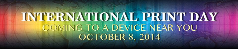 INternational Print Day - Oct 8