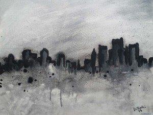 Detroit Gotham Painting