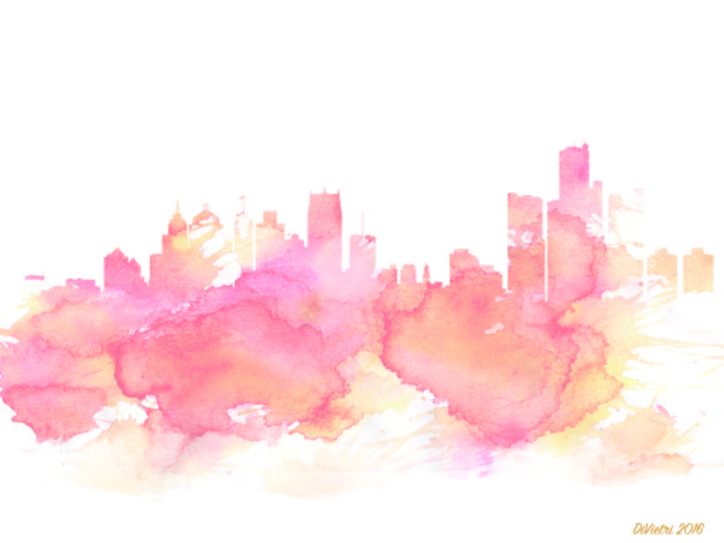 Detroit Skyline Abstract Art Melissa Divietri