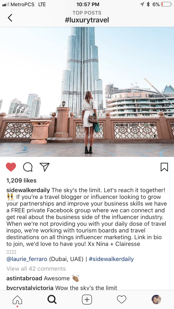 Instagram Hashtags Travel