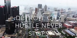 Detroit, Michigan from Helicopter