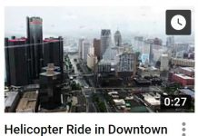 Helicopter Ride in Downtown Detroit
