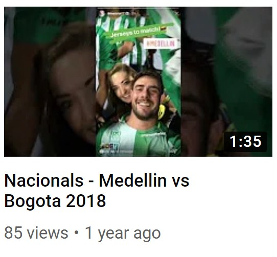 Nacionals - Medellin vs Bogota 2018