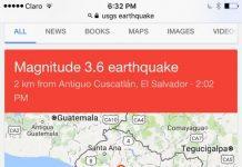 earth quakes San Salvador